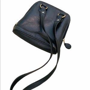 Frye black pebble leather crossbody purse/bag